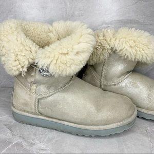 Ugg Boots Off White 7 Bailey I Do Rhinestone Lined